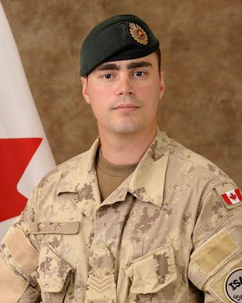 Sergeant George Miok of the 41 Combat Engineer Regiment unit. (Photo courtesy of Fallen Canadians Web site)