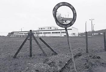 Marienborn has been preserved as a memorial landmark of the divided German border era (Thilo Gehrke)
