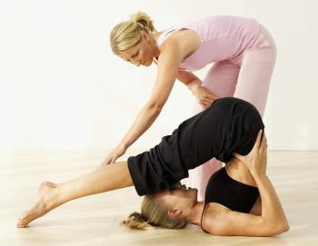 PROMOTING HEALING: The plough is one of the yoga exercises that can strengthen the lower esophageal sphincter and prevent GERD. (Photos.com)