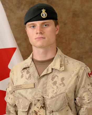 Private Garrett William Chidley, 2nd Battalion Princess Patricia's Canadian Light Infantry unit. (Photo courtesy of the Fallen Canadians Web site)