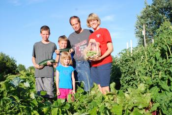 A new outreach program teaches Ohio families how to grow their own food. (Randy Sarvis/Wilmington College)