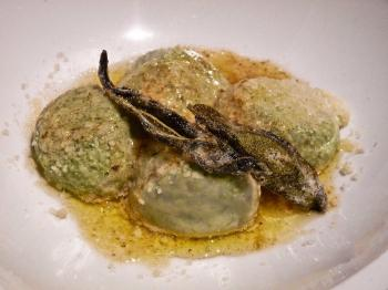 Gnocchi-like dumplings without potatoes - a tongue-tickling refined blend of flavors. (Nadia Ghattas/The Epoch Times)