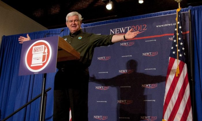 Republican presidential candidate former Speaker of the House Newt Gingrich campaigns at the Wiregrass Museum of Art on March 10 in Dothan, Ala. Alabama will hold its Republican primary election on March 13. Gingrich campaign adviser R. C. Hammond said that Alabama and Mississippi are critical for the candidate. (Mark Wallheiser/Getty Images)