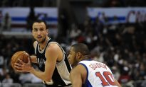 Spurs Manu Ginobli Out With Broken Hand