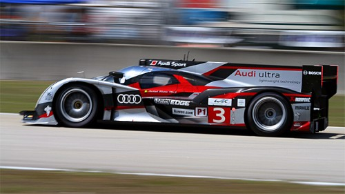 The #3 Audi suffered a minor collision which kept it from fighting for the lead in the final hour. (James Fish/The Epoch Times)