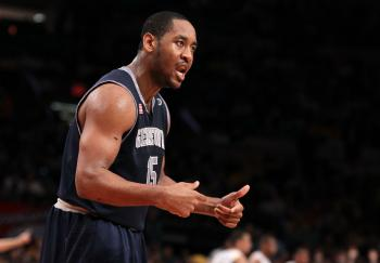 Georgetown's Austin Freeman contributed 25 points on Sat. Jan. 15 against Rutgers. (Jim McIsaac/Getty Images)