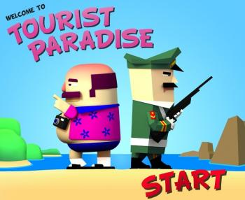 Screen shot from online game,'Welcome to the Tourist Paradise.' (ISHR and Frankfurt Ad Agency Leo Brunett)
