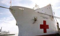 Massive Naval Hospital Ship Arrives in Haiti