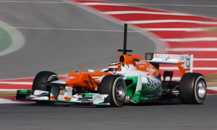 Nico Hulkenberg of Force India F1 was quickest on Day Two of Formula One winter testing at Circuit de Catalunya in Barcelona. (Mark Thompson/Getty Images)