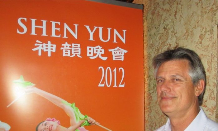 Geoffrey Hogbin attends Shen Yun Performing Arts at Sydney's Capitol Theatre. (Luke Hughes/The Epoch Times)