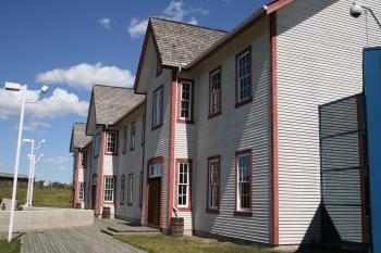 Reconstruction of Officers Barracks built in 1888. (Neil Campbell/The Epoch Times)