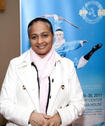 Ms. Jenna Maharaja at a VIP reception for Shen Yun Performing Arts at the Kennedy Center Opera House in Washington, DC, Jan. 25., 2011.