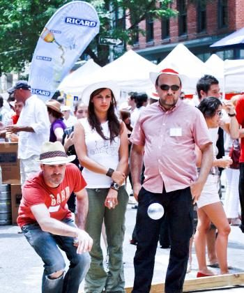 VIVE LA FRANCE: A Bastille Day Celebration held in Tribeca Tuesday included a petanque Tournament. (Cliff Jia/The Epoch Times)