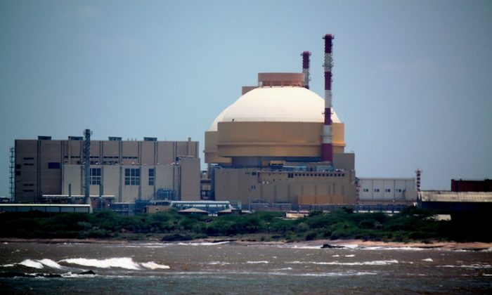 Kudankulam power plant, India's largest nuclear power plant set to be commissioned in June. (Venus Upadhayaya/Epoch Times)