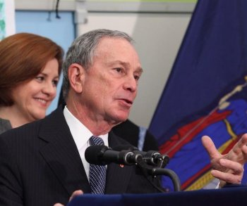 DOLING OUT CASH: Mayor Michael Bloomberg announces a $10 million investment in some of the city's most troubled students.  (Gary Du/The epoch Times)