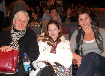 Sue Bennett (R), owner of Bennet Design, a company that specializes in interior design and knowledge consulting, attended Shen Yun Performing Arts with her mother, Shirley Feltham, and daughter, Carling, at the Sony Centre on Jan. 15. (Matthew Little/The Epoch Times)