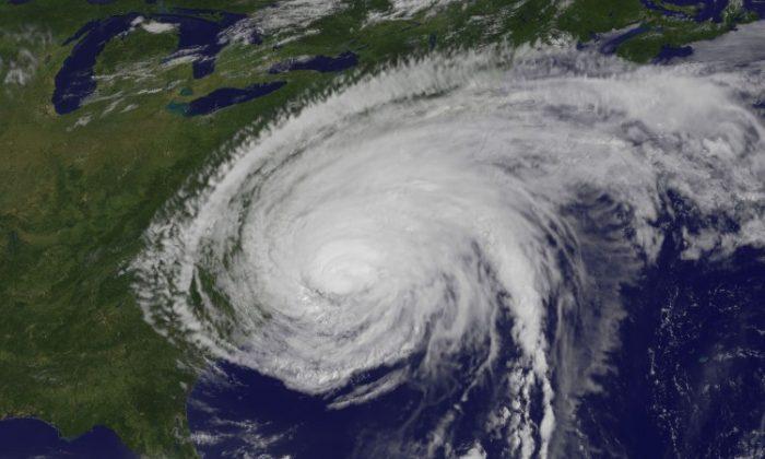 A NASA satellite image of Hurricane Irene from Aug. 27, 2011. (NASA via Getty Images)