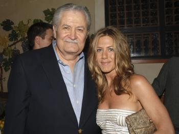 (L-R) Actor, John Aniston, and daughter, actor, Jennifer Aniston. (Stephen Shugarman/Getty Images)