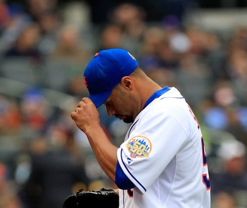 After two starts in 2012 Johan Santana is 0-1 with a 0.90 ERA. (Chris Trotman/Getty Images)
