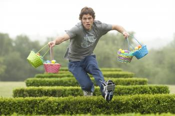 HIGH HOPS: James Marsden in a scene from the Easter-themed film 'Hop.'  (Rhythm & Hues/ Universal Pictures)