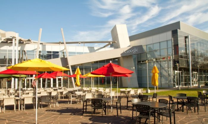 The courtyard at Google Inc. in Mountain View, California. (Jan Jekielek/The Epoch Times)