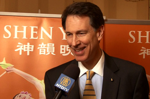 Dr. John Lenczowski was among the enthusiastic audience on Opening Night of internationally-acclaimed Shen Yun Performing Arts at the Kennedy Center. (Courtesy of NTD Television)