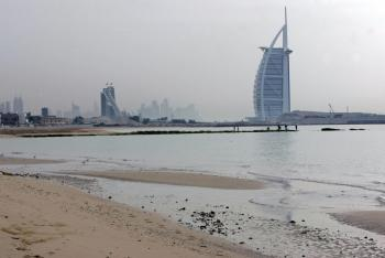 Last month, a 300-meter strip of Jumeirah Beach was closed as a result of pollution being pumped through underground pipes from storm drains in the city's industrial area of Al Quoz. (Karim Sahib/AFP/Getty Images)