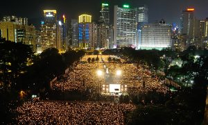 Photos: Biggest-Ever June 4 Candlelight Vigil in Hong Kong 180,000-Strong