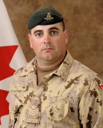 Sergeant Kirk Taylor, 84 Independent Field Battery, Royal Canadian Artillery unit. (Photo courtesy of the Fallen Canadians Web site)