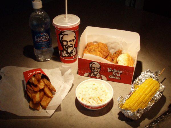 Before the make-over a regular KFC dinner (Erik R. Trinidad)