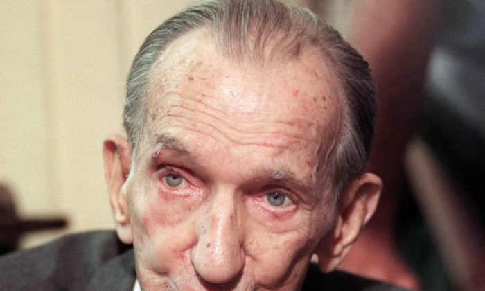 Polish World War II resistance fighter and scholar Jan Karski in Warsaw May 17, 2000. Karski tried as early as 1943 to alert Western Allies to the situation in German-occupied Poland, especially the destruction of the Warsaw Ghetto and the extermination camps. (Tomasz Gzell/AFP/Getty Images)