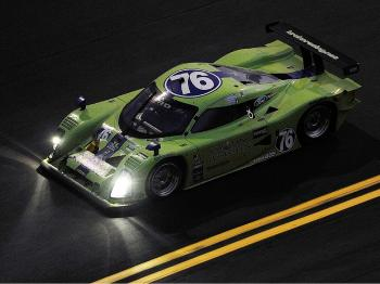 The #76 Krohn Racing Lola Ford has managed to hang onto the leaders all night long. (John Harrelson/Getty Images)