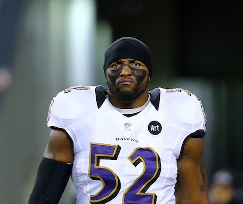 Ray Lewis, though he's 37 years old can still bring the heat on defense, leading all postseason players in tackles with 44. (Al Bello/Getty Images)