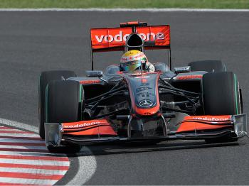 McLaren driver Lewis Hamilton took third spot on the gird in the final qualifying session. (Toshifumi Kitamura/AFP/Getty Images)