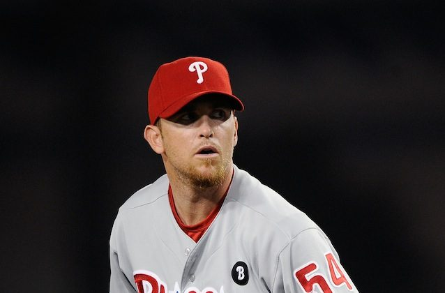 Brad Lidge comes to Washington after a total of 10 years in Philadelphia and Houston. (Kevork Djansezian/Getty Images)