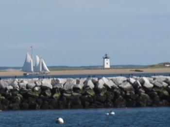 Sailboats and lighthouses are regular sights in the quaint Cape Cod area. (Gabriella Savitz)