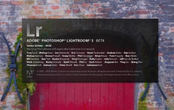 The splash screen of the Lightroom 3 beta.  (JoshuaPhilipp/The Epoch Times)