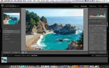 The workspace of Lightroom 3 beta. The layout of tools and features in Lightroom 3 beta holds the same look and feel of Lightroom 2. (Joshua Philipp/The Epoch Times)