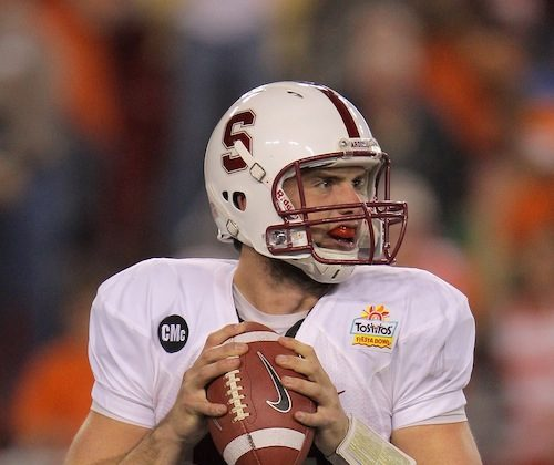 Andrew Luck threw for more than 9,000 yards at Stanford. (Doug Pensinger/Getty Images)