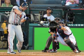 Brian McCann of the Atlanta Braves had the game-winning hit for the National League in Tuesday's MLB All-Star game. (Lisa Blumenfeld/Getty Images )