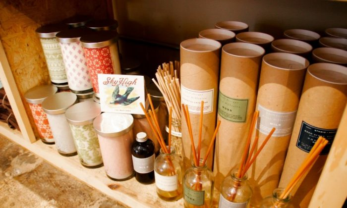 Incense and aromatherapy oils at Green in BKLYN. (Tara MacIsaac/The Epoch Times)