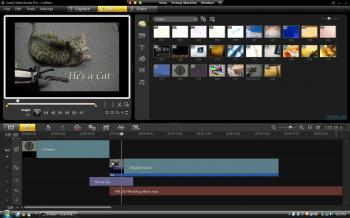 The main workspace in Corel VideoStudio Pro X3. From there, users can add video clips, audio, and various effects to their movie.  (Joshua Philipp/The Epoch Times)