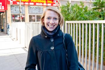 Marion Pouliquen, 21, assistant project manager, Brooklyn (By Joshua Philipp/The Epoch Times)