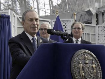 HOT COMMODITY: Mayor Michael Bloomberg announced New York City's 2009 record-breaking tourism numbers on Tuesday at the Brooklyn Botanic Garden. NYC saw more than 48 million visitors last year.  (Phoebe Zheng/The Epoch Times)