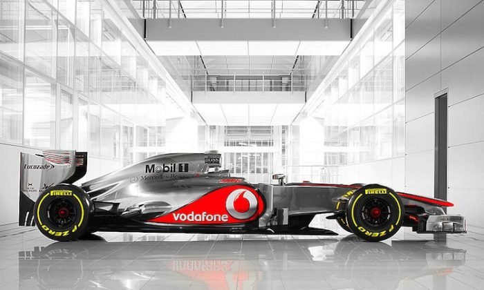 McLaren's new MP4-27 F1 car looks like last year's model but is in fact completely reworked. (McLaren)