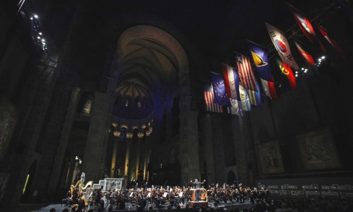 The New York Philharmonic performs a free concert at The Cathedral Church of Saint John the Divine on Memorial Day, May 28. (Michael DiVito)
