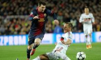 Messi Leads Brilliant Barcelona Past AC Milan in Champions League