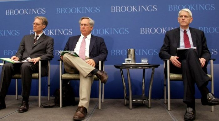 "(L to R) Greg Thielmann joined Arms Control Association at the Brookings Institution in 2009. David Hoffman, is Contributing Editor, Foreign Policy Magazine, and the author of ""The Dead Hand."" Steven Pifer, former ambassador to Ukraine, is director of Arms Control Initiative at the Brookings Institution, and author of new report, ""Missile Defense in Europe: Cooperation or Contention?"" They spoke May 17 at Brookings on U.S.-Russian relations (Gary Feuerberg/ The Epoch Times)"