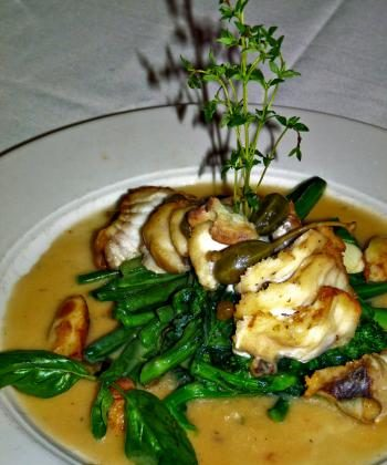CODA DI ROSPO: Monkfish and caper berries in a white wine and lemon sauce (Nadia Ghattas/Epoch Times)
