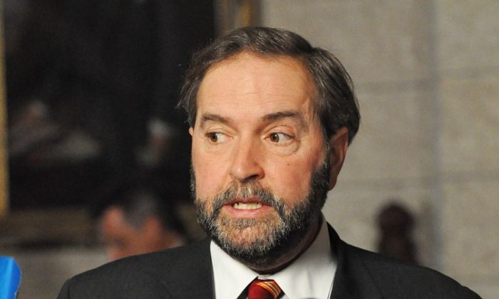 Thomas Mulcair took Outremont, Quebec in a by-election in 2007. On Saturday he won the party's leadership content is Toronto, and the title of Leader of the Official Opposition. (Matthew Little/Epoch Times)